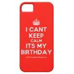 [Crown] i cant keep calm its my birthday  iPhone 5 Cases