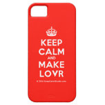 [Crown] keep calm and make lovr  iPhone 5 Cases