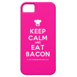 [Chef hat] keep calm and eat bacon  iPhone 5 Cases