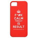 [Crown] f*#k calm today is result  iPhone 5 Cases