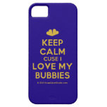 [Two hearts] keep calm cuse i love my bubbies  iPhone 5 Cases