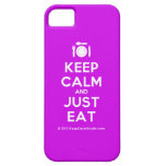 [Cutlery and plate] keep calm and just eat  iPhone 5 Cases
