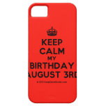 [Crown] keep calm my birthday august 3rd  iPhone 5 Cases