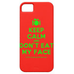 [Cutlery and plate] keep calm and don't eat my face  iPhone 5 Cases