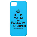 [Crown] keep calm and follow supsophie  iPhone 5 Cases