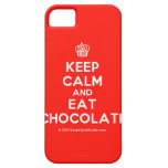 [Cupcake] keep calm and eat chocolate  iPhone 5 Cases