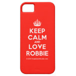 [Crown] keep calm and love robbie  iPhone 5 Cases