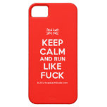 [UK Flag] keep calm and run like fuck  iPhone 5 Cases