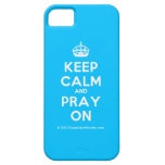 [Crown] keep calm and pray on  iPhone 5 Cases