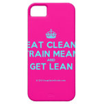 [Crown] eat clean train mean and get lean  iPhone 5 Cases