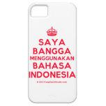 [Crown] saya bangga menggunakan bahasa indonesia  iPhone 5 Cases