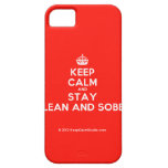 [Crown] keep calm and stay clean and sober  iPhone 5 Cases