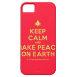 [Xmas tree] keep calm and make peace on earth  iPhone 5 Cases