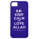 [No Crown] keep calm and love allah  iPhone 5 Cases