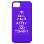 [Skull crossed bones] keep calm and party with jfgc tonight  iPhone 5 Cases