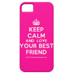 [Crown] keep calm and love your best friend  iPhone 5 Cases