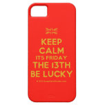 [UK Flag] keep calm its friday the 13th be lucky  iPhone 5 Cases
