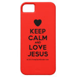 [Love heart] keep calm and love jesus  iPhone 5 Cases