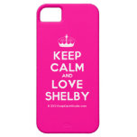 [Knitting crown] keep calm and love shelby  iPhone 5 Cases