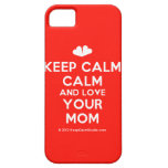 [Two hearts] keep calm calm and love your mom  iPhone 5 Cases