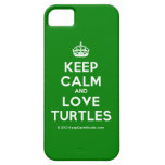 [Crown] keep calm and love turtles  iPhone 5 Cases