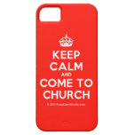 [Crown] keep calm and come to church  iPhone 5 Cases