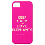 keep calm and love elephants  iPhone 5 Cases