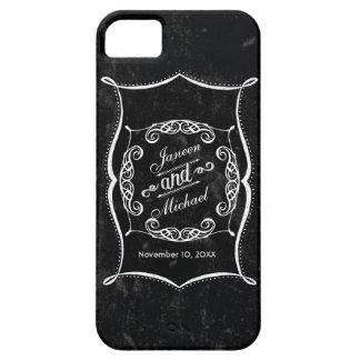 IPhone 5 Chalkboard Style Rustic Swirl Typography iPhone SE/5/5s Case