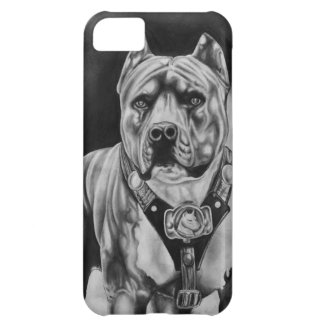 IPHONE 5 CHARCOIL PITBULL CELL CASE