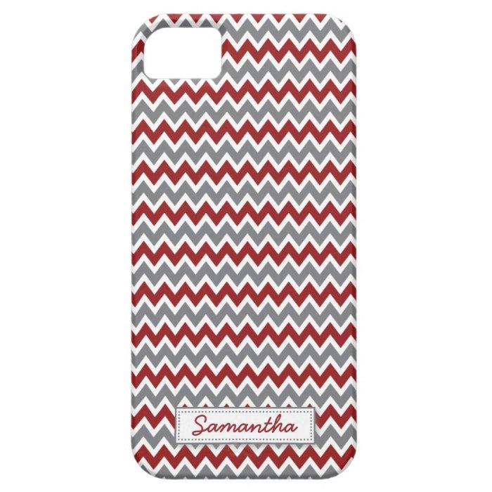 iPhone 5 Chevron Pattern Case-Mate Case (maroon)