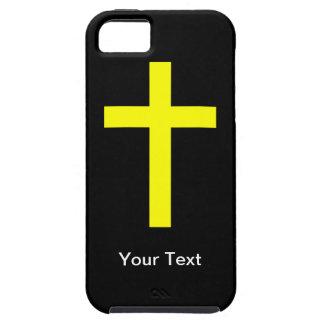iPhone 5 - Cruz - su texto - plantilla iPhone 5 Cárcasa
