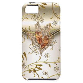 iPhone 5 Damask Caramel Cream Beige Gold Amber iPhone 5 Cover