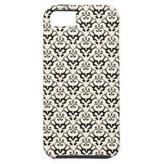 iPhone 5 damask-like black & cosmic latte case iPhone 5 Covers