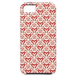 iPhone 5 damask-like poppy red & cosmic latte case iPhone 5 Case