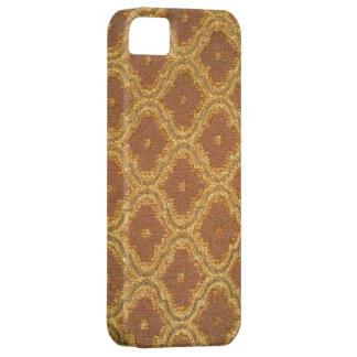 iPhone 5 de la casamata del damasco de Brown del iPhone 5 Fundas
