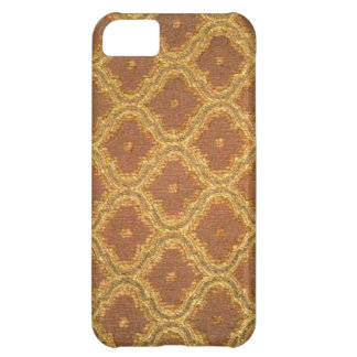 iPhone 5 de la casamata del damasco de Brown del o Funda Para iPhone 5C