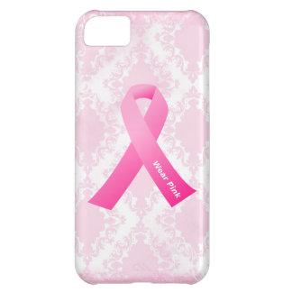 iPhone 5 de la cinta del rosa del desgaste de la c