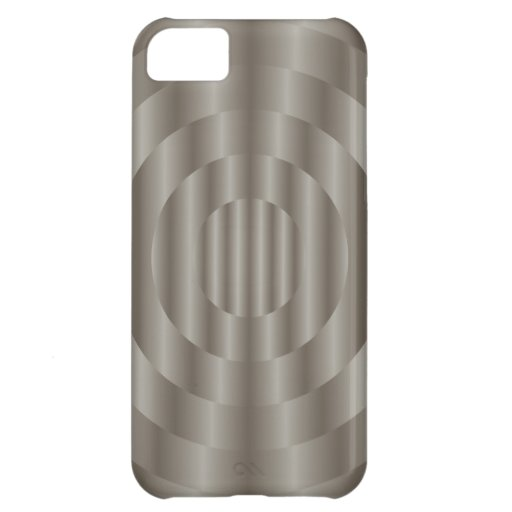 iPhone 5 de la plata metalizada del círculo