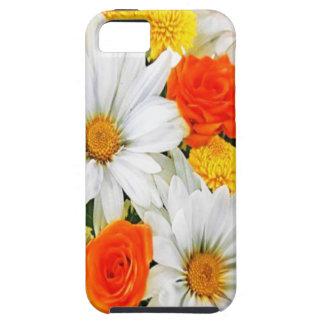 Iphone 5 de las flores blancas del amarillo anaran iPhone 5 fundas