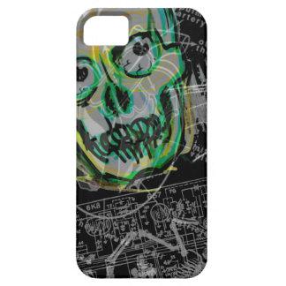 iPhone 5 del の潰されたやっとそこに de Noire del 怪獣映画の iPhone 5 Case-Mate Fundas
