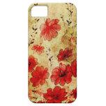 iPhone 5 del 赤くグランジな花の iPhone 5 Carcasa