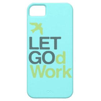 iPhone 5 del caso del bombo de LETGOdwork azul cla iPhone 5 Cárcasas