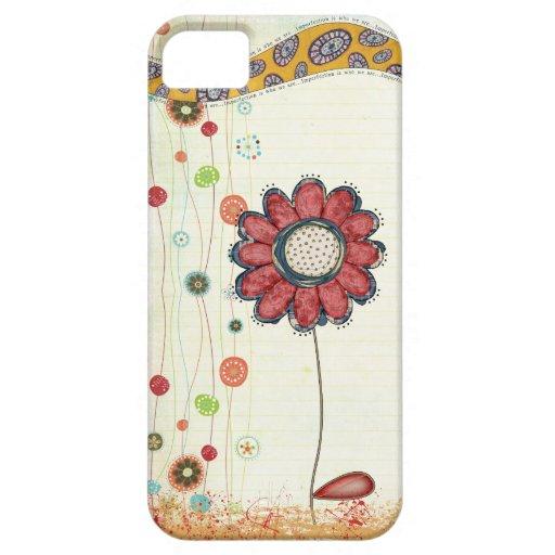 iphone 5 del doodle de la flor funda para iPhone SE/5/5s