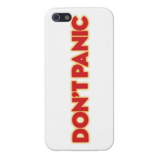 "iPhone 5 ""Don´t Panic"" galaxy travel guide white Cover For iPhone SE/5/5s"