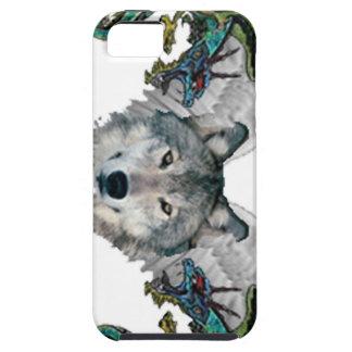 iPhone 5 dragones de los lobos del caso iPhone 5 Funda