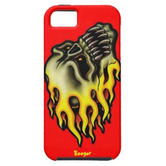 Iphone 5 duro - cráneo llameante del motorista iPhone 5 fundas