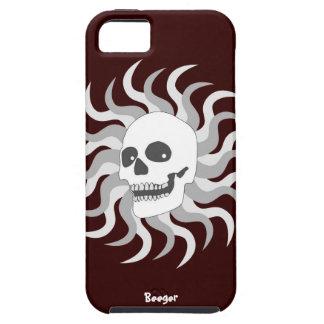 Iphone 5 duro - cráneo y llamas de Sun Funda Para iPhone 5 Tough
