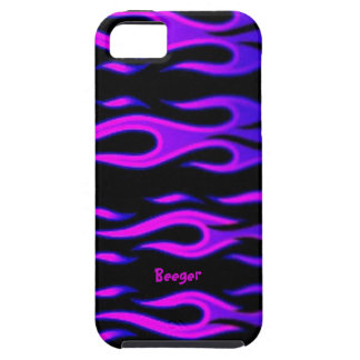 Iphone 5 duro - llamas púrpuras iPhone 5 carcasa