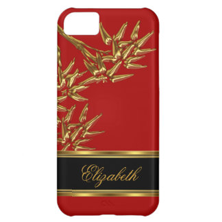 iPhone 5 Elegant Classy Asian Bamboo Red Gold Case For iPhone 5C