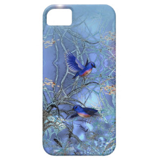 iPhone 5 Elegant Classy Blue Birds Bluebirds iPhone SE/5/5s Case